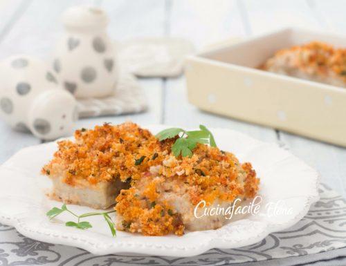 Filetti di merluzzo gratinati