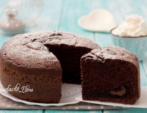 Torta panna e cioccolato con Nutella