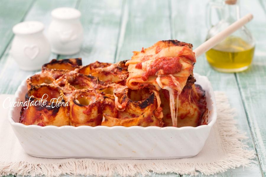 girelle di lasagne pomodoro e mozzarella