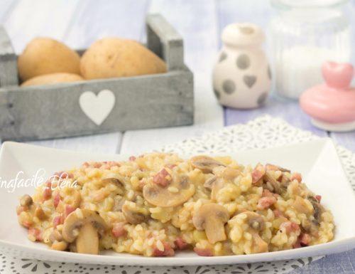 Risotto patate e funghi