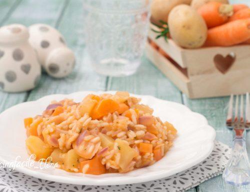 Risotto patate e carote