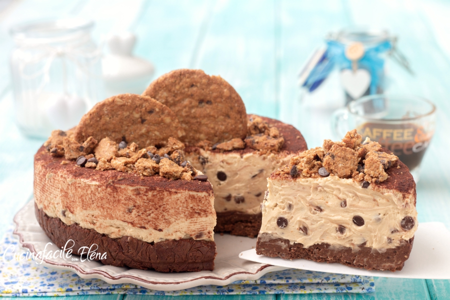 Cheesecake cookie al caffè
