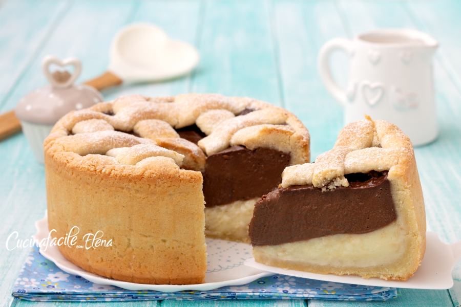 crostata alle due creme