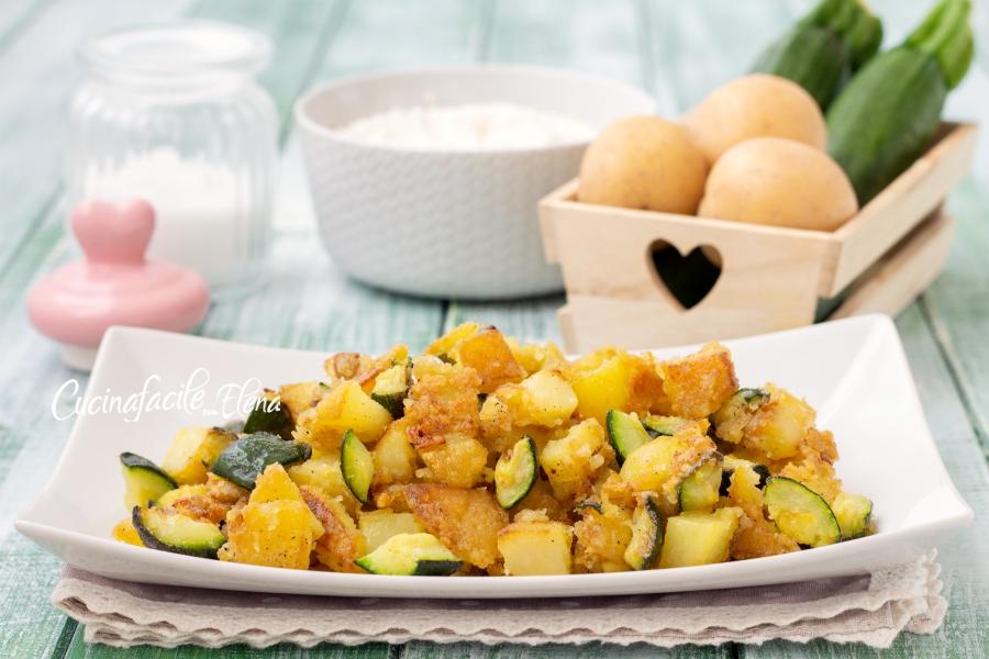 Ricetta Patate E Zucchine In Padella.Zucchine E Patate In Padella Infarinate Croccanti Pronte In 10 Minuti Con Ingrediente Segreto E Poco Olio