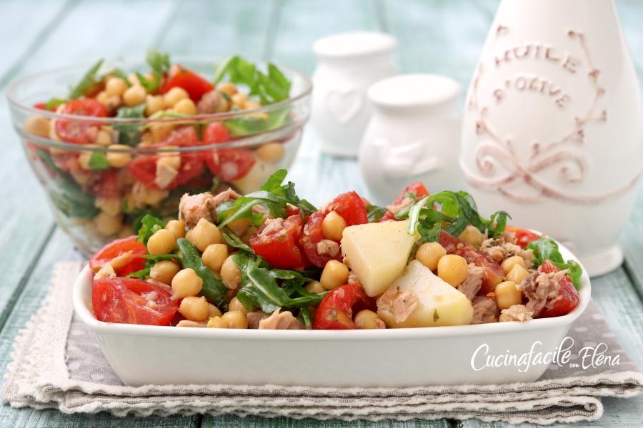Insalata di ceci fredda facilissima nutriente e gustosa for Insalate ricette