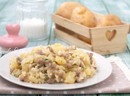Risotto patate e salsiccia