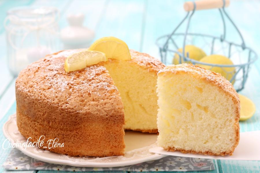 Torta Con Amido Di Mais Senza Uova.Torta Nuvola Al Limone Senza Farina