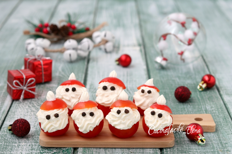 Antipasti A Forma Di Babbo Natale.Babbi Natale Salati Senza Cottura Da Fare In Soli 5 Minuti