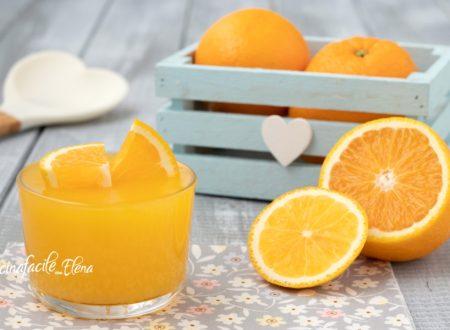 Crema all'arancia all'acqua