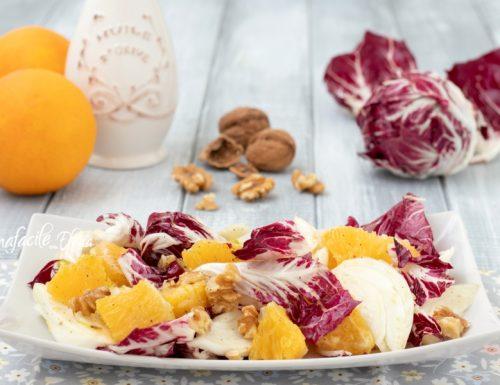 Insalata di radicchio arance e finocchi