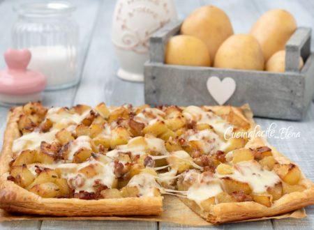 Schiacciata patate e salsiccia