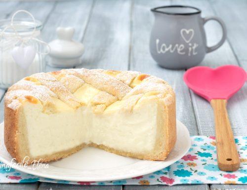 Crostata con crema pasticcera alla ricotta