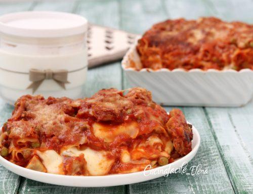 Lasagne carciofi e piselli