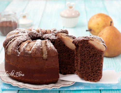 Ciambella pere e cioccolato