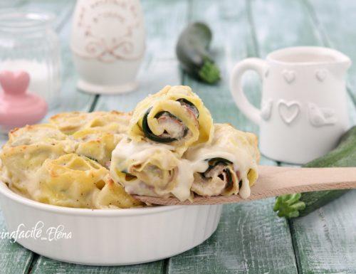Girelle di lasagne alle zucchine