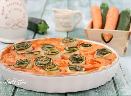 Crostata con rose di verdure
