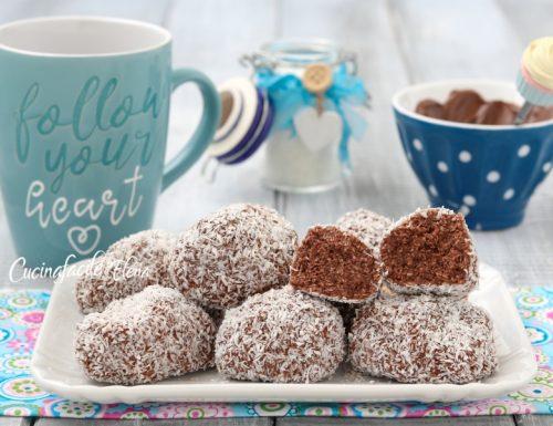 Biscotti cocco e Nutella senza cottura