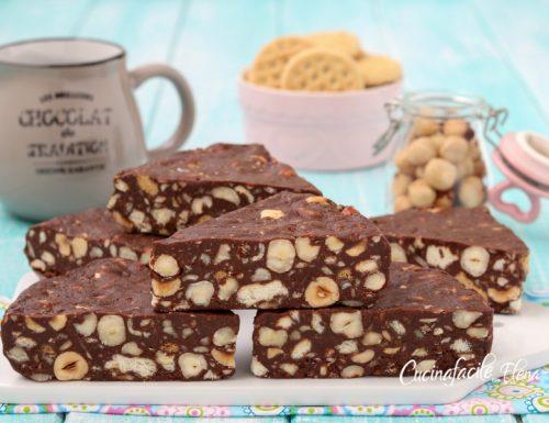 Torta fredda cioccolato e nocciole