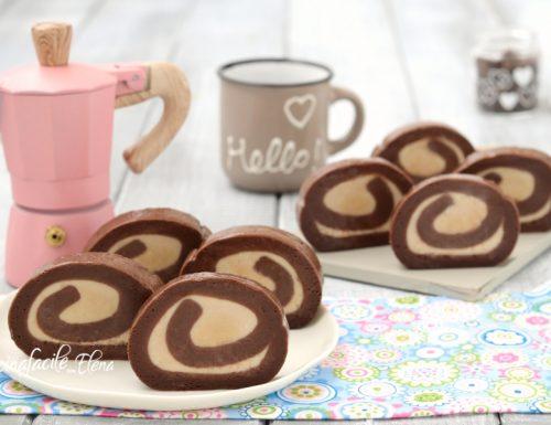 Girelle al caffè e cioccolato