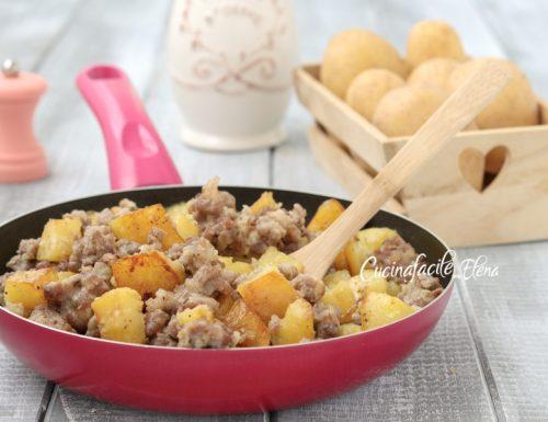 Sbriciolata di salsiccia e patate