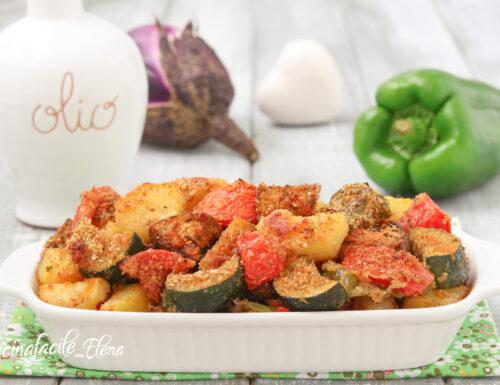 Verdure marinate al forno
