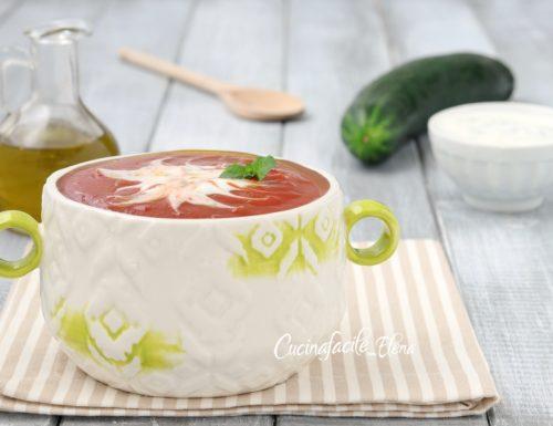 Zuppa fredda pomodoro e cetrioli