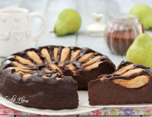 Gateau pere e cioccolato