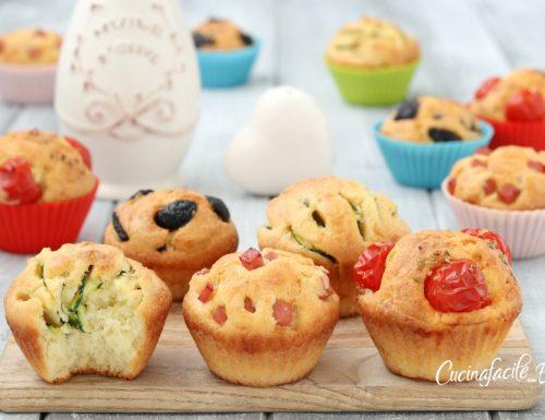 Muffin salati allo yogurt