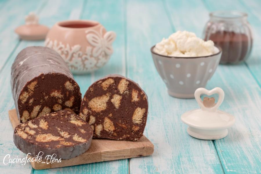 Ricetta Salame Al Cioccolato Leggero.Salame Di Cioccolato Alla Ricotta Goloso