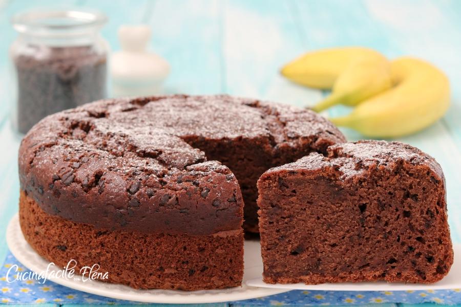Ricetta Torta Banana.Torta Banana E Cioccolato Soffice In 5 Minuti