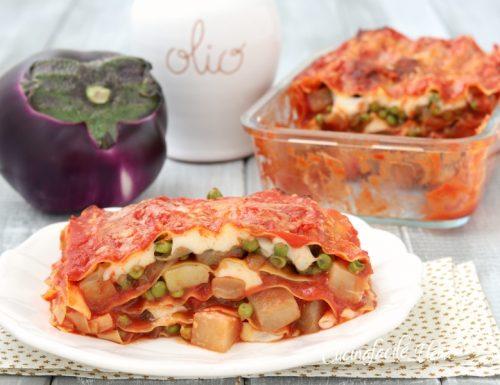 Lasagne melanzane e piselli