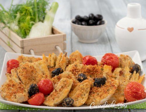 Finocchi con pomodorini e olive