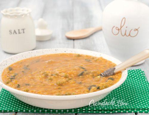 Zuppa di riso con verdure