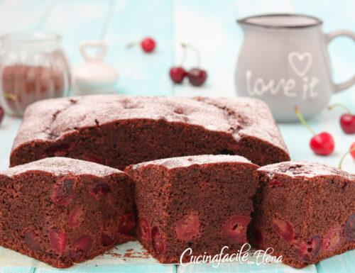 Torta ciliegie e cioccolato