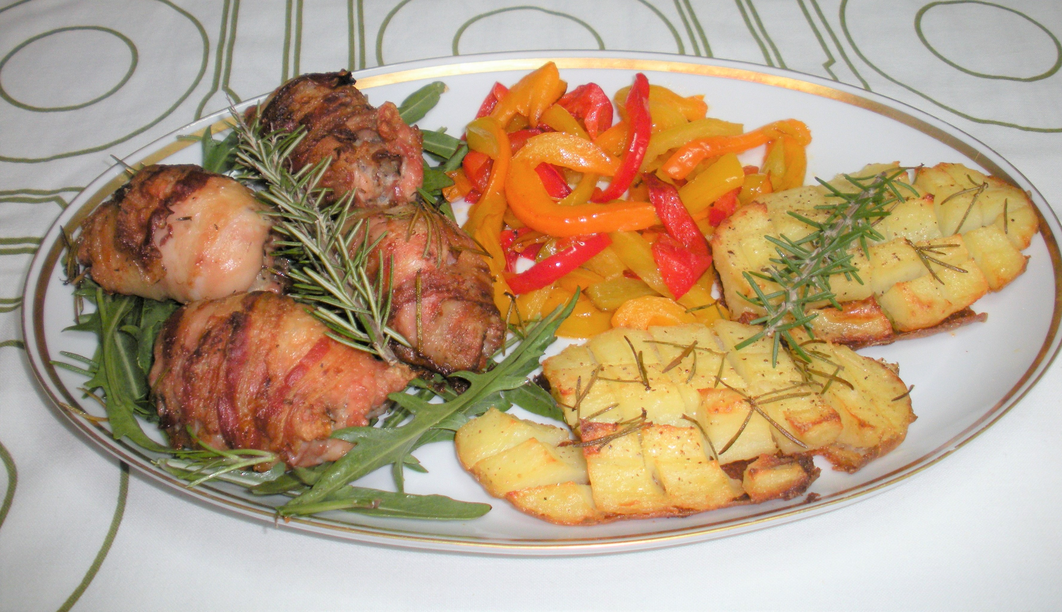 Rolatine di pollo al forno