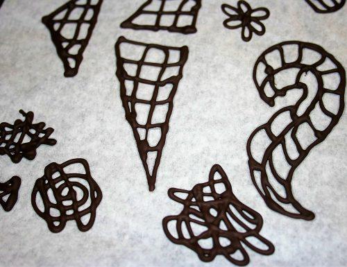 Decorazioni al cioccolato