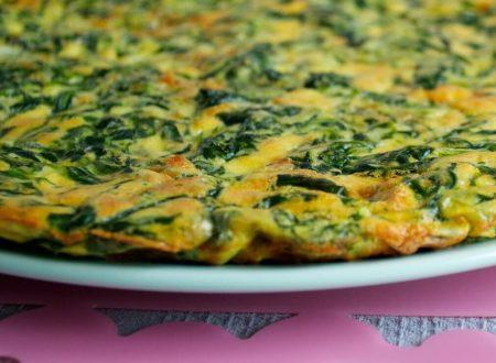 Frittata di spinaci e cipollotti