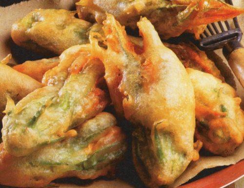 Fiori di zucca con ripieno salato