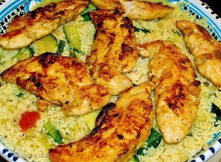 Pollo speziato con cous-cous