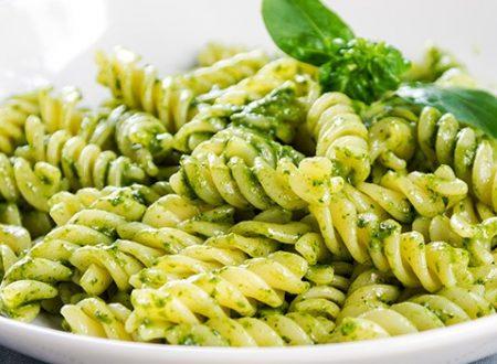 Fusilli al pesto di olive verdi