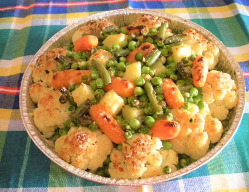 Rosette di cavolfiore con verdure