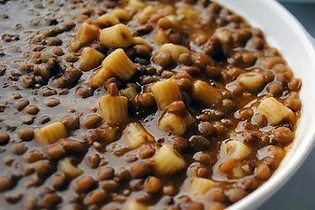 Minestra e lenticchie senza verdure