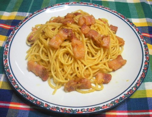 Carbonara semplice con pancetta