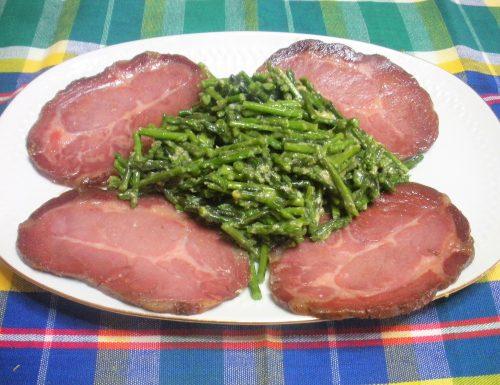Coppa con asparagi