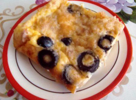 Frittata con tonno e olive