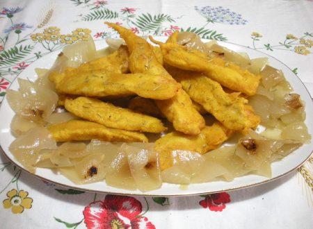 Filetti di pollo in pastella