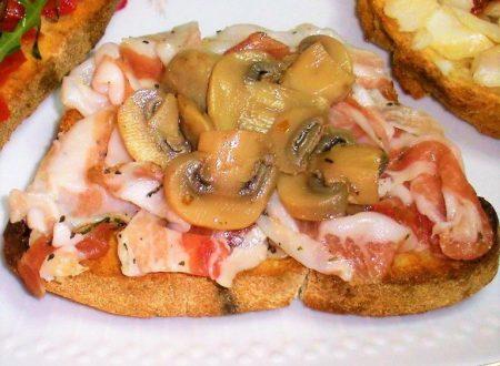 Bruschetta con lardo pancettato