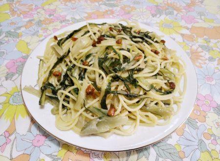 Spaghetti con le puntarelle