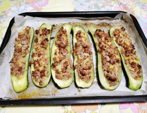 Zucchine con salsiccia
