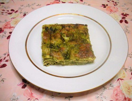 Lasagne con spinaci e zucchine